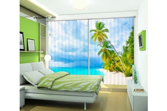 3D Blue Sea 112 Curtains Drapes
