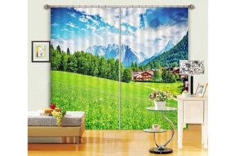 3D Green Grassland 106 Curtains Drapes