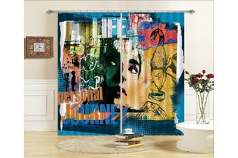 3D Painted Girl 102 Curtains Drapes
