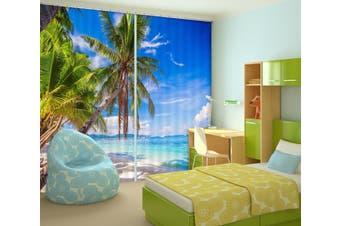 3D Big Coconut Tree 868 Curtains Drapes
