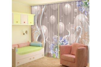 3D White Sphere 133 Curtains Drapes