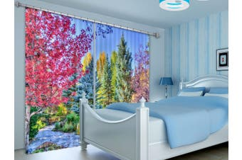 3D Forest Beauty 132 Curtains Drapes