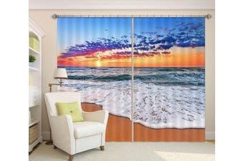 3D Beach Water 128 Curtains Drapes