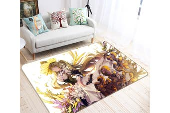 "3D Hatsune Miku 6478 Anime Non Slip Rug Mat, 80cmx120cm (31.4""x47.24"")"