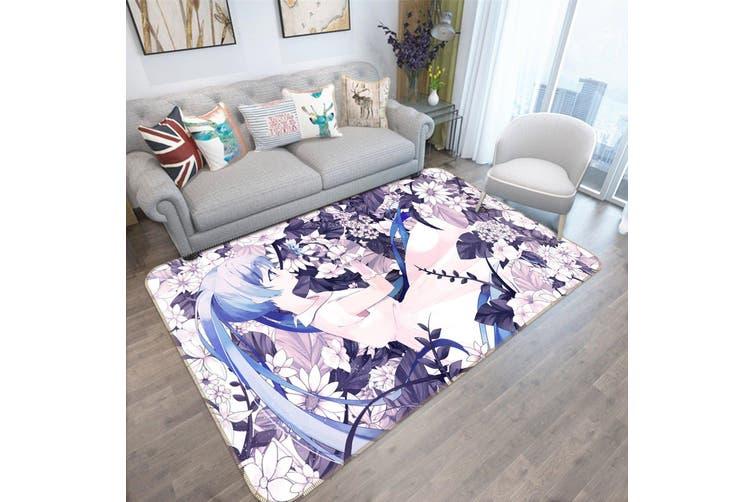 "3D Hatsune Miku 2034 Anime Non Slip Rug Mat, 160cmx240cm (63""x94.5"")"