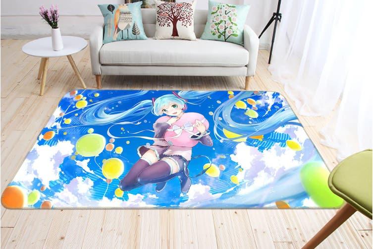 "3D Hatsune Miku 1638 Anime Non Slip Rug Mat, 160cmx240cm (63""x94.5"")"
