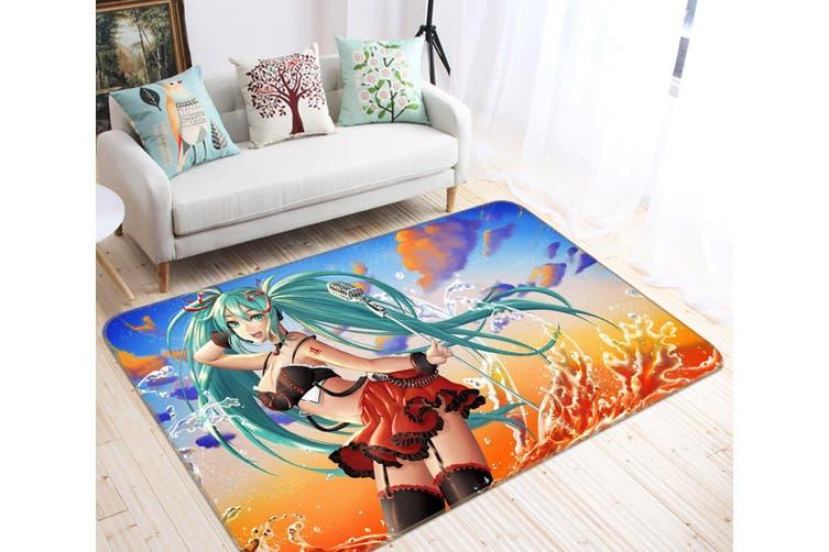 "3D Hatsune Miku 7469 Anime Non Slip Rug Mat, 60cmx90cm (23.6""x35.4"")"