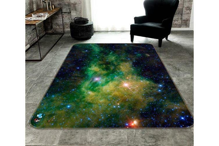 """3D Green Star 055 Non Slip Rug Mat, 40cmx60cm (15.7""""x23.6"""")"""