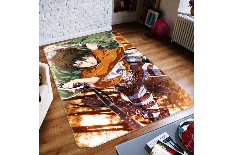 "3D Attack On Titan 873 Anime Non Slip Rug Mat, 60cmx90cm (23.6""x35.4"")"