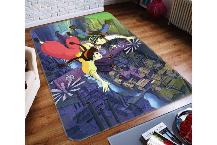 """3D Castle In The Sky 233 Anime Non Slip Rug Mat, 80cmx120cm (31.4""""x47.24"""")"""