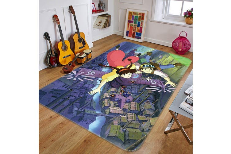 "3D Castle In The Sky 233 Anime Non Slip Rug Mat, 120cmx180cm (47.2""x70.9"")"