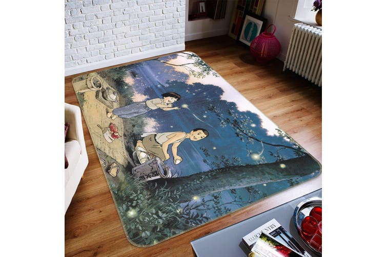 "3D Grave Of The Fireflies 137 Anime Non Slip Rug Mat, 40cmx60cm (15.7""x23.6"")"