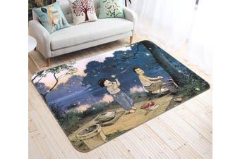 "3D Grave Of The Fireflies 137 Anime Non Slip Rug Mat, 80cmx120cm (31.4""x47.24"")"