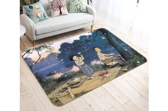 "3D Grave Of The Fireflies 137 Anime Non Slip Rug Mat, 120cmx180cm (47.2""x70.9"")"