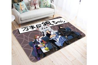 "3D Gintama 67 Anime Non Slip Rug Mat, 120cmx180cm (47.2""x70.9"")"