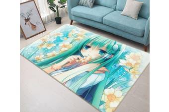 """3D Kimono Girl 765 Anime Non Slip Rug Mat, 60cmx90cm (23.6""""x35.4"""")"""