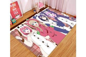 """3D Yuruyuri 4345 Anime Non Slip Rug Mat, 140cmx200cm (55.1""""x78.8"""")"""