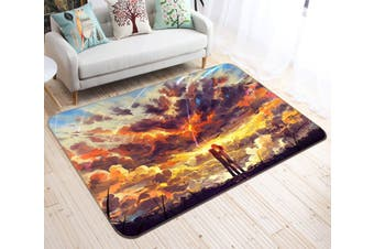 "3D Your Name 736 Anime Non Slip Rug Mat, 80cmx120cm (31.4""x47.24"")"