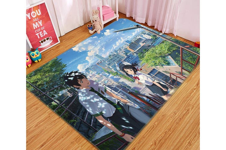 "3D Your Name 7866 Anime Non Slip Rug Mat, 80cmx120cm (31.4""x47.24"")"