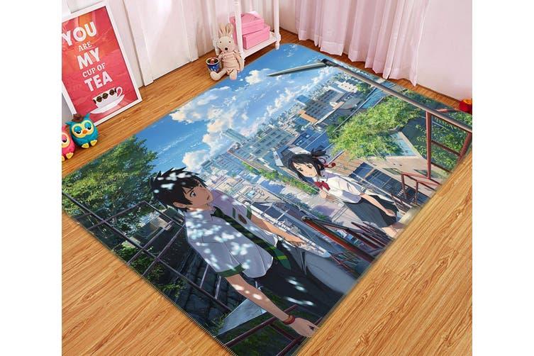 "3D Your Name 7866 Anime Non Slip Rug Mat, 140cmx200cm (55.1""x78.8"")"