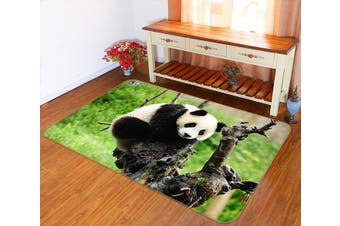 "3D Funny Panda 259 Non Slip Rug Mat, 160cmx240cm (63""x94.5"")"