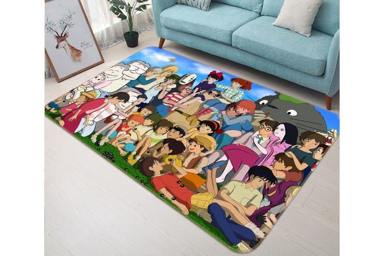 """3D Spirited Away 33 Anime Non Slip Rug Mat, 140cmx200cm (55.1""""x78.8"""")"""