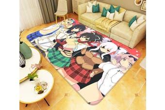 "3D SENRAN KAGURA SHINOVI VERSUS 8 Anime Non Slip Rug Mat, 160cmx240cm (63""x94.5"")"