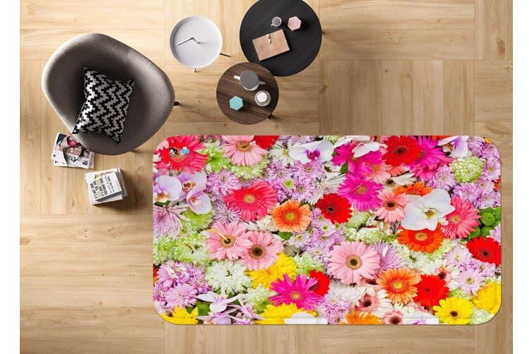 """3D Dense Flowers 124 Non Slip Rug Mat, 80cmx120cm (31.4""""x47.24"""")"""
