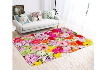 """3D Dense Flowers 124 Non Slip Rug Mat, 140cmx200cm (55.1""""x78.8"""")"""