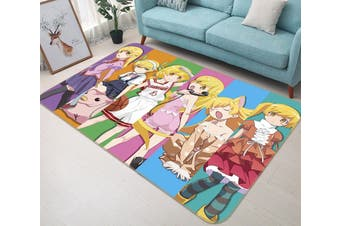 "3D Monogatari Series 5 Anime Non Slip Rug Mat, 140cmx200cm (55.1""x78.8"")"