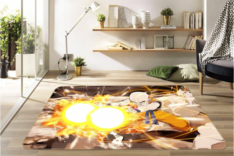 "3D Bald Head Ray 131 Anime Non Slip Rug Mat, 140cmx200cm (55.1""x78.8"")"