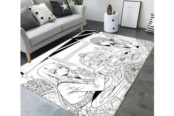 "3D DARLING In The FRANXX 4342 Anime Non Slip Rug Mat, 60cmx90cm (23.6""x35.4"")"
