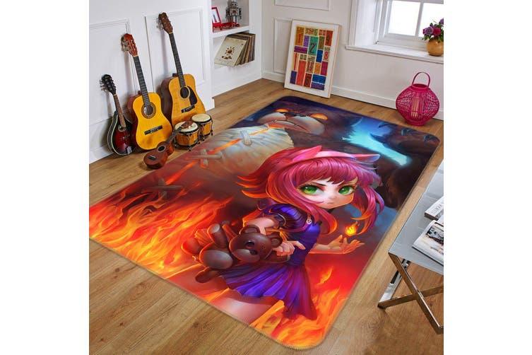 """3D Dark Girl Anne 73 Anime Non Slip Rug Mat, 160cmx240cm (63""""x94.5"""")"""