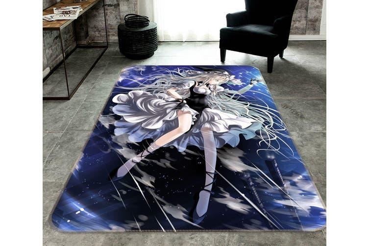 """3D Foggy Rain 71 Anime Non Slip Rug Mat, 160cmx240cm (63""""x94.5"""")"""