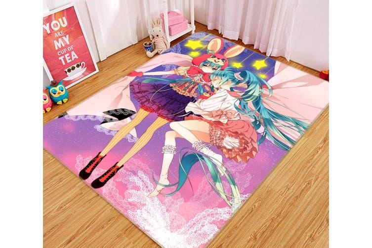 """3D Hatsune 66 Anime Non Slip Rug Mat, 140cmx200cm (55.1""""x78.8"""")"""