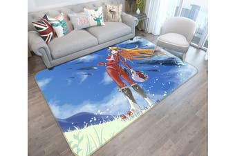 "3D Fighting Girl 48 Anime Non Slip Rug Mat, 40cmx60cm (15.7""x23.6"")"