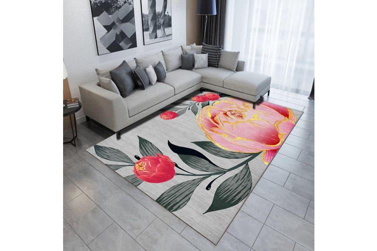 "3D Pink Rose WG506 Non Slip Rug Mat, 140cmx200cm (55.1""x78.8"")"