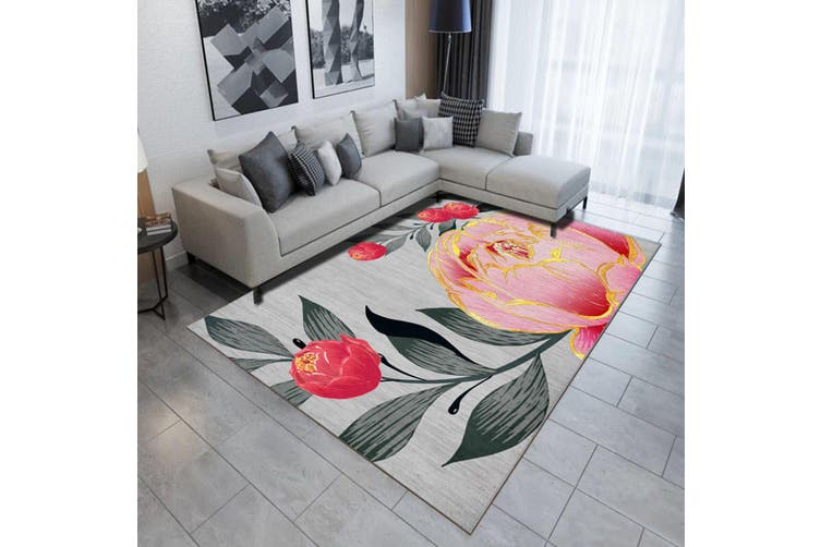 "3D Pink Rose WG506 Non Slip Rug Mat, 160cmx240cm (63""x94.5"")"