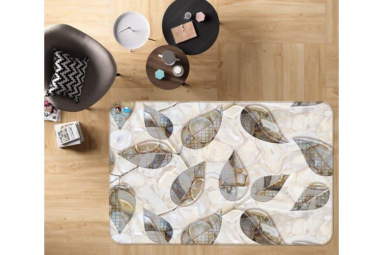 "3D Leaf Shape Pattern 48 Non Slip Rug Mat, 160cmx240cm (63""x94.5"")"