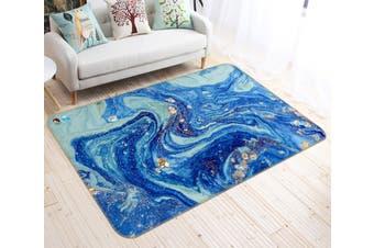 "3D Blue Gradient Wave 47 Non Slip Rug Mat, 120cmx180cm (47.2""x70.9"")"