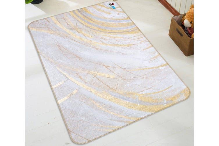"3D Shallow Semicircle 42 Non Slip Rug Mat, 140cmx200cm (55.1""x78.8"")"