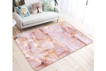 "3D Pink Stone Board 41 Non Slip Rug Mat, 160cmx240cm (63""x94.5"")"