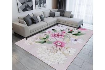 "3D Pretty Flowers WG500 Non Slip Rug Mat, 80cmx120cm (31.4""x47.24"")"