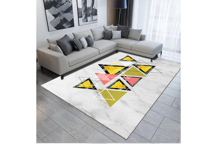 "3D Colored Triangle WG498 Non Slip Rug Mat, 60cmx90cm (23.6""x35.4"")"