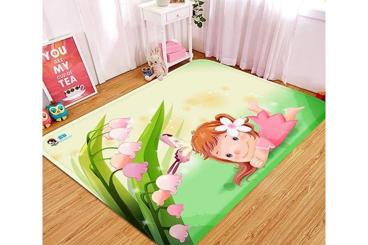 """3D Naughty Little Girl 37 Non Slip Rug Mat, 160cmx240cm (63""""x94.5"""")"""
