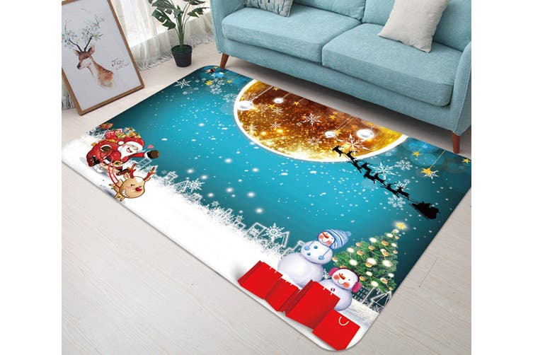 "3D Golden Ball Snowflake 037 Non Slip Rug Mat, 120cmx180cm (47.2""x70.9"")"