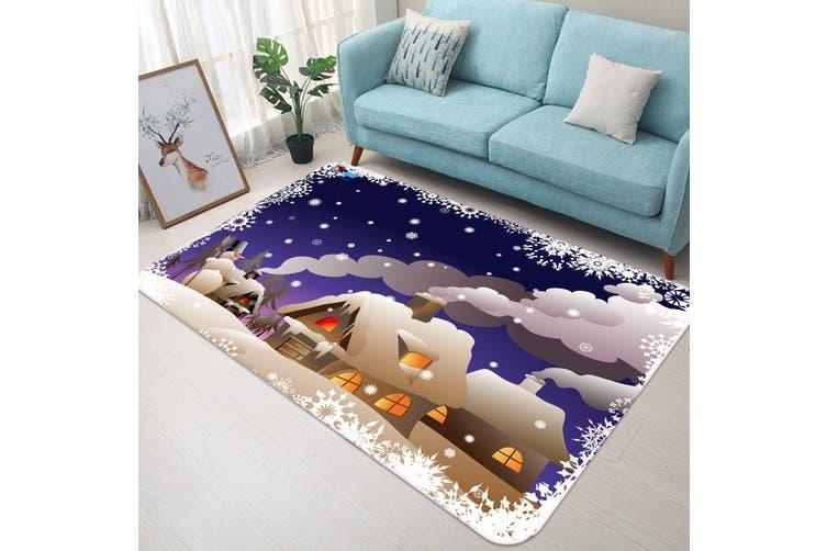 "3D Human Smoke Snow House 036 Non Slip Rug Mat, 40cmx60cm (15.7""x23.6"")"