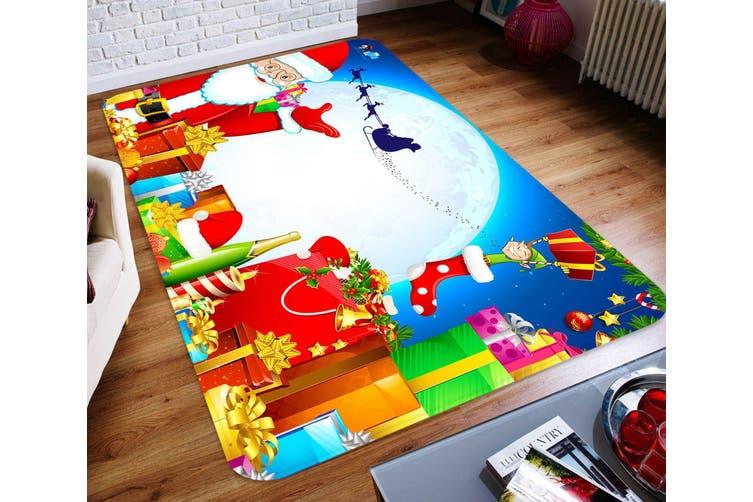 "3D Moon Gift Box 030 Non Slip Rug Mat, 140cmx200cm (55.1""x78.8"")"