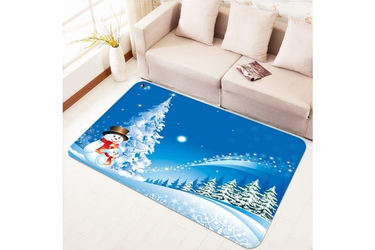 "3D Snow Tree Stars 029 Non Slip Rug Mat, 40cmx60cm (15.7""x23.6"")"