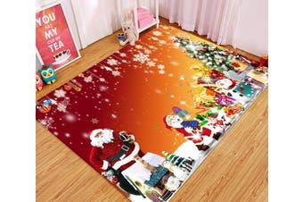 "3D Snowflake Shiny Gift Box 014 Non Slip Rug Mat, 140cmx200cm (55.1""x78.8"")"